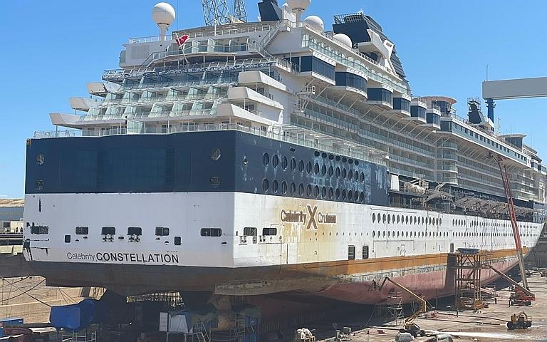 Celebrity Constellation - Trabajos de mantenimiento en los Astilleros Navantia